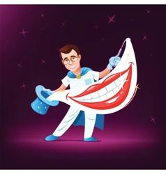 Dentist magician vector image