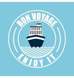 Von voyage seal design vector