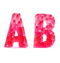 Ruby polygonal font vector