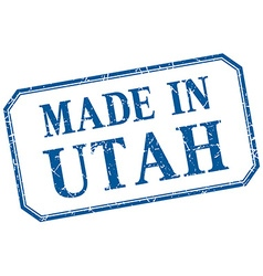 Utah - made in blue vintage isolated label vector