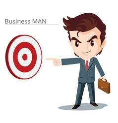 Business man smart character vector