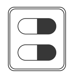 Medicine capsule pack icon vector