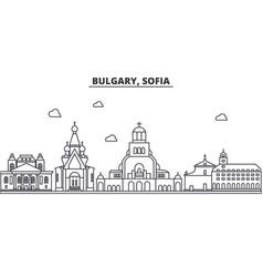Bulgaria sofia architecture line skyline vector