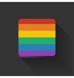 Button with rainbow flag vector