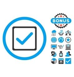 Checkbox Flat Icon with Bonus vector image vector image