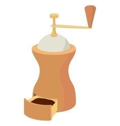 Coffee grinder icon cartoon style vector image