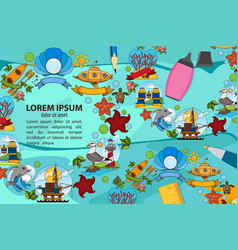 creative template with place for text for design vector image vector image