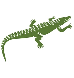 crocodile design vector image