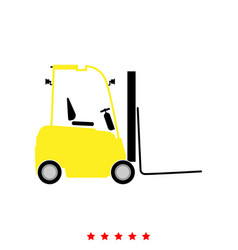 Electric loader it is icon vector