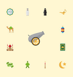 Flat icons new lunar minaret mosque and other vector