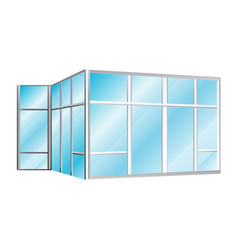 Glazing office partitions icon vector