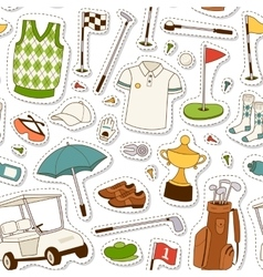 Golf seamless pattern vector image vector image