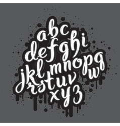 Handdrawn graffiti alphabet 01 vector