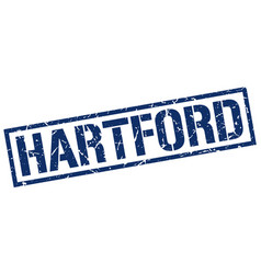 Hartford blue square stamp vector