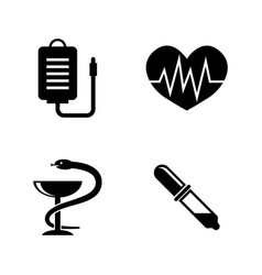 healthcare simple related icons vector image vector image