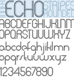 INNER ECHO retro striped rounded font vector image vector image