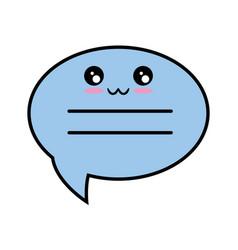 kawaii speech bubble icon vector image