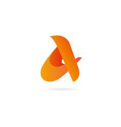 letter a logo design template elements vector image vector image