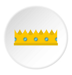 Little crown icon circle vector