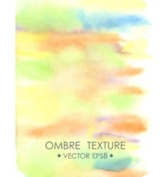 Ombre watercolor yellow hand drawn ombre texture vector