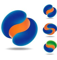 orange ball vector image