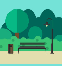 outdoor furniture and lighting vector image vector image