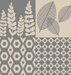 Patterns in grey and beige vector image