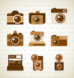 photographic icon vector image