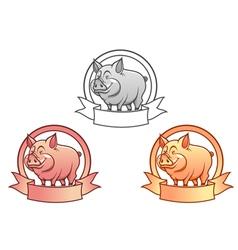 Pig logo vector