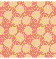 Pink abstracciones pattern with circles vector image