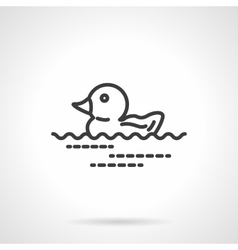 Rubber duck icon black line design icon vector image vector image