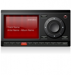 satellite radio receiver vector image vector image