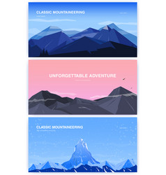 set of horizontal background with mountains vector image vector image