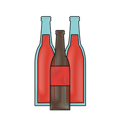 soda bottles with red label icon image vector image