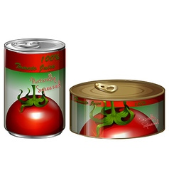 Two cans of tomato juice vector image