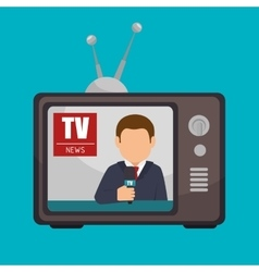 Tv news anchorman broadcast graphic vector