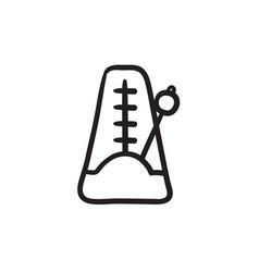 Metronome sketch icon vector