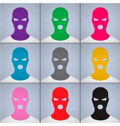 The anonymous author of avatars in a cap-mask vector image