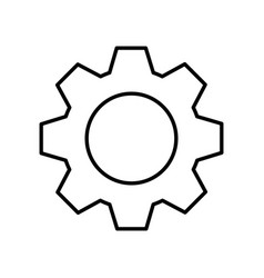gear machine isolated icon vector image