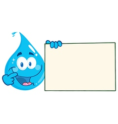 Cartoon water droplet vector image