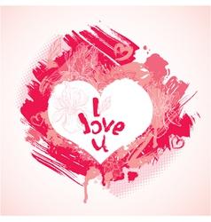 heart grunge 380 vector image