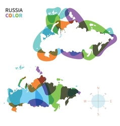 Abstract color map of russia vector