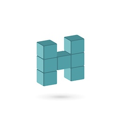 Letter h cube logo icon design template elements vector