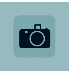 Pale blue camera icon vector
