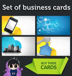 Modern business cards vector