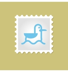 Seagull stamp vector