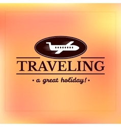 Travel logo label typography design vector