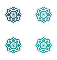 Set of stickers indian sign on white background vector