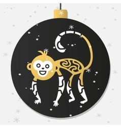 Chinese new year monkey decoration ball vector