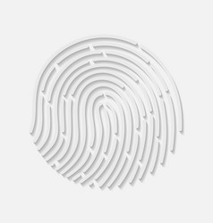 Touch fingerprint radial id app with shadows vector